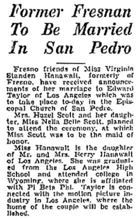 The Fresno Bee (Fresno, California); February 2, 1935, page 4, column 1.
