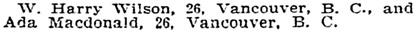 Marriage Licences, San Francisco Call, Volume 90, Number 125, 3 October 1901, page 13, column 5; https://cdnc.ucr.edu/cgi-bin/cdnc?a=d&d=SFC19011003.2.90.5&e=-------en--20--1--txt-txIN--------1.