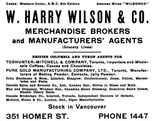 Henderson's City of Vancouver and North Vancouver Directory, 1909, page 100.