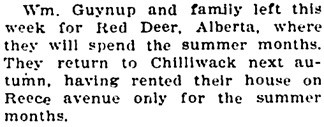 Chilliwack Progress, April 1, 1908, page 4, column 2.