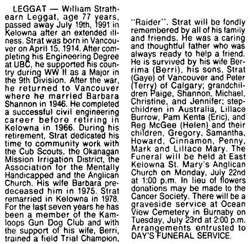 Vancouver Sun, July 20, 1991, page 66, column 8.