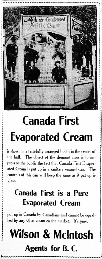 Vancouver Daily World, October 15, 1908, page 8, columns 1-2.