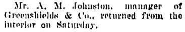 Vancouver Daily World, March 23, 1908, page 7, column 5.