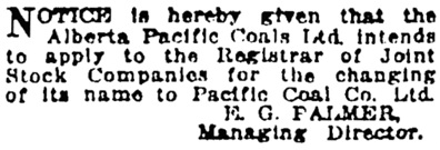 Vancouver Sun, March 10, 1923, page 10, column 6.