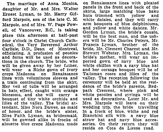 The Gazette (Montreal, Canada), June 27, 1935, page 8, column 1.