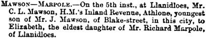 York Herald (York, England), November 21, 1863, page 7, column 6.