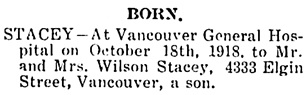 The Chilliwack Progress, October 24, 1918, page 4, column 3.