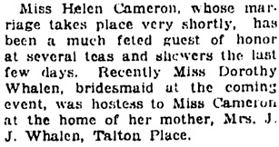 Vancouver Daily World, September 4, 1923, page 7, column 5.