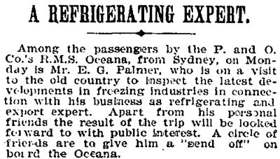 """A Refrigerating Expert,"" The Australian Star (Sydney, New South Wales), October 9, 1897, page 5, column 2; https://trove.nla.gov.au/newspaper/article/231806082."