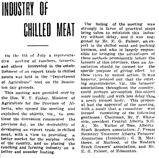 Edmonton Journal, July 9, 1908, page 1, column 3 [selected portions].