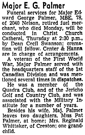 Vancouver Sun, April 19, 1944, page 19, column 8.