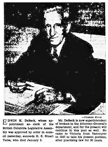 Victoria Daily Colonist, January 6, 1949, page 27, columns 5-6, https://archive.org/stream/dailycolonist0149uvic_2#page/n26/mode/1up.