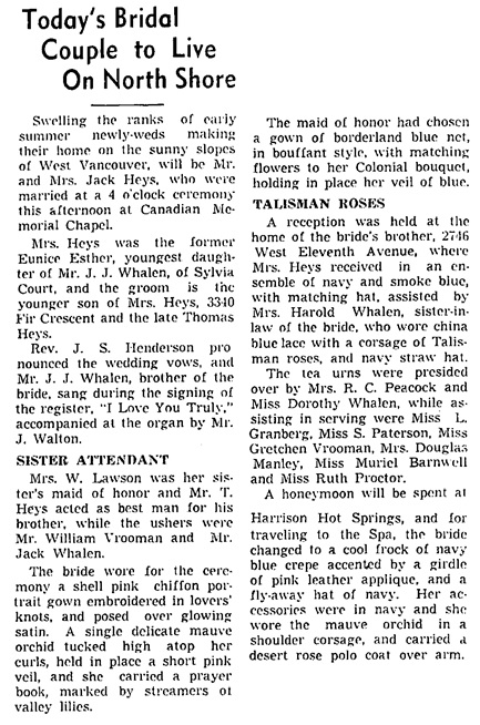 Vancouver Sun, July 16, 1938, page 12.