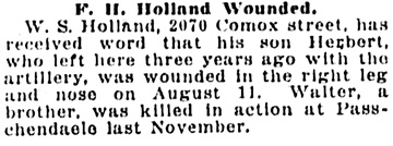 Vancouver Sun, August 24, 1918, page 12, column 5.
