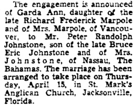 The Gazette (Montreal), April 9, 1954, page 21, column 7.