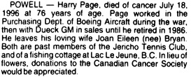 Vancouver Sun, July 20, 1996, page F1, image 87, column 4.