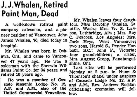 Vancouver Sun, January 9, 1942, page 4, column 4; https://news.google.com/newspapers?id=rTRlAAAAIBAJ&sjid=R4kNAAAAIBAJ&pg=1900%2C855323.