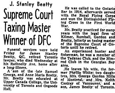 Toronto Globe and Mail, April 11, 1960, page 8, column 1.