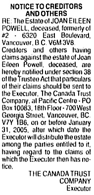 Vancouver Sun, December 27, 2004, page 58, column 9.