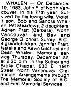 Vancouver Sun, December 21, 1983, page D1, image 37, column 10.