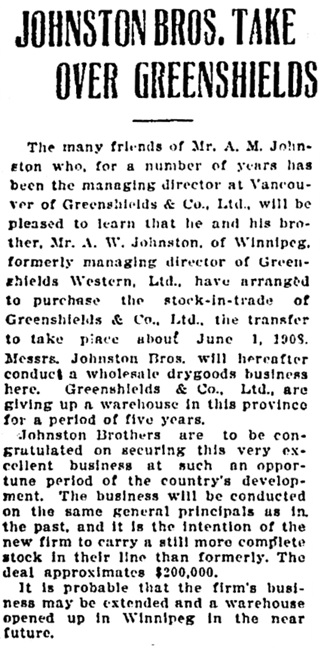 Vancouver Daily World, March 25, 1908, page 16, column 1.