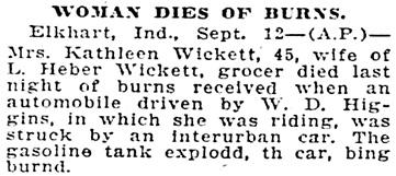 The Star Press (Muncie, Indiana), September 13, 1927, page 3, column 2.