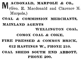 Henderson's BC Gazetteer and Directory, 1901, page 732.
