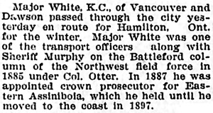Winnipeg Tribune, November 23, 1907, page 12, column 3; reprinted in Vancouver World, December 2, 1907, page 15, column 3.