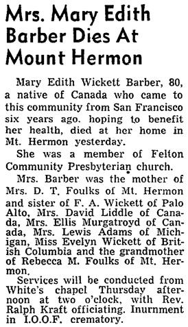 Santa Cruz Sentinel (Santa Cruz, California), October 27, 1948, page 12, column 4.