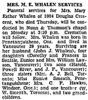 Vancouver Sun, April 18, 1936, page 2, columns 7-8.