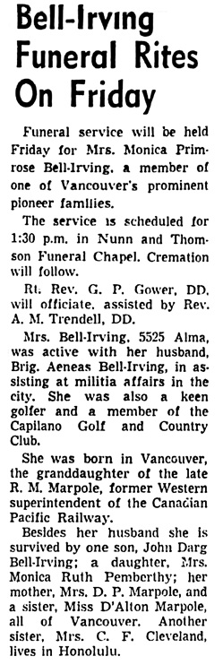 Vancouver Sun, September 6, 1956, page 30, column 3.
