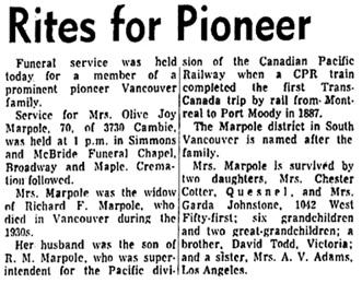 Vancouver Sun, June 7, 1967, page 15, columns 1-2.