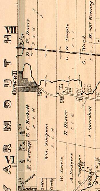 Orwell, Township of Malahide, Elgin County, Ontario, http://digital.library.mcgill.ca/countyatlas/Images/Maps/TownshipMaps/elg-m-malahide.jpg.