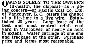 Vancouver Sun, May 27, 1940, page 16, column 6.