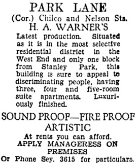 Vancouver Sun, October 17, 1931, page 22, column 8.