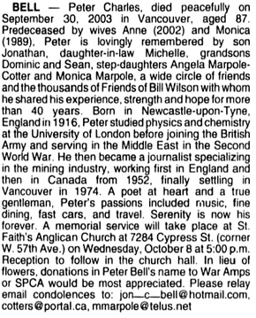 Vancouver Sun, October 6, 2003, page F7, image 55, column 1.