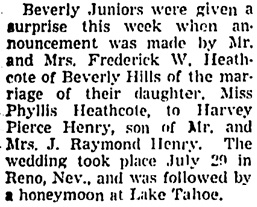 The Los Angeles Times, August 7, 1938, part 4, page 5, column 1.