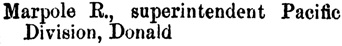 Henderson's BC Gazetteer and Directory, 1889, page 266 (Donald).