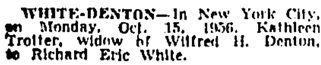 Toronto Globe and Mail, October 16, 1956, page 27, column 1.