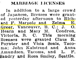 The Tacoma Times (Tacoma, Washington), May 4, 1912, page 7, column 5.