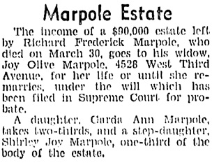 Vancouver Sun, September 29, 1937, page 7, column 3.