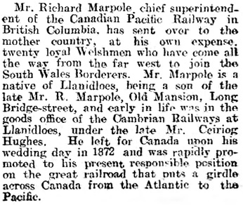 Cambrian News and Merionethshire Standard, February 26, 1915, page 5, column 8; http://cymru1914.org/en/view/newspaper/3412692/4.