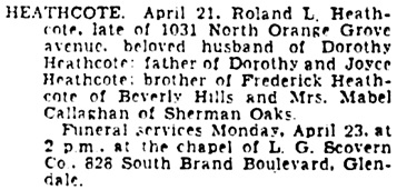 The Los Angeles Times, April 22, 1934, page 32, column 3.