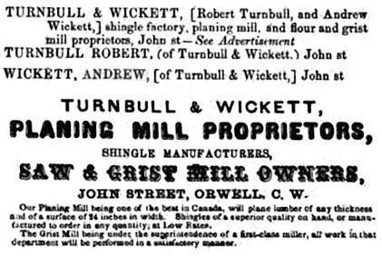 Fuller's Elgin and Norfolk Counties Directory, 1865-1866, pages 124-125 [selected portions].