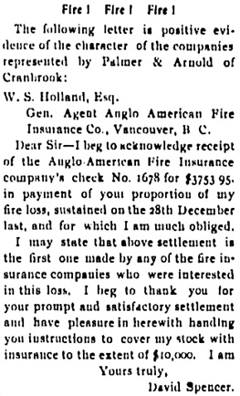 Cranbrook Herald, April 3, 1902, page 1, column 5; https://open.library.ubc.ca/collections/bcnewspapers/cranherald/items/1.0068418#p0z-1r0f: