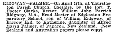 Derbyshire Times and Chesterfield Herald (Chesterfield, England), April 22, 1899, page 5, column 6.