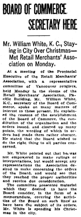 Victoria Daily Colonist, December 25, 1919, page 7, column 4; https://archive.org/stream/dailycolonist62y10uvic#page/n7/mode/1up.