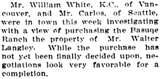 """Ashcroft,"" The Chilliwack Progress, June 23, 1909, page 3, column 2."