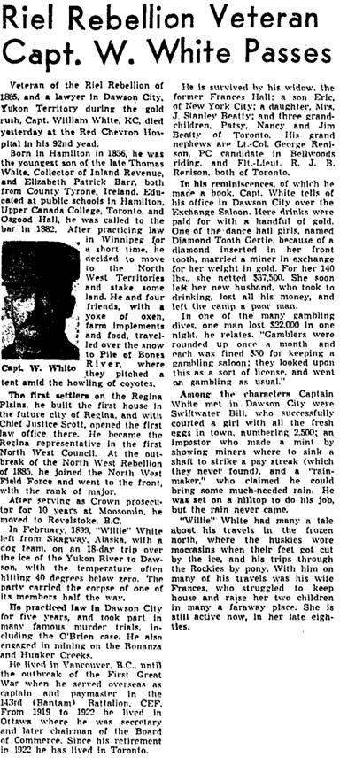Toronto Globe and Mail, May 31, 1948, page 4.