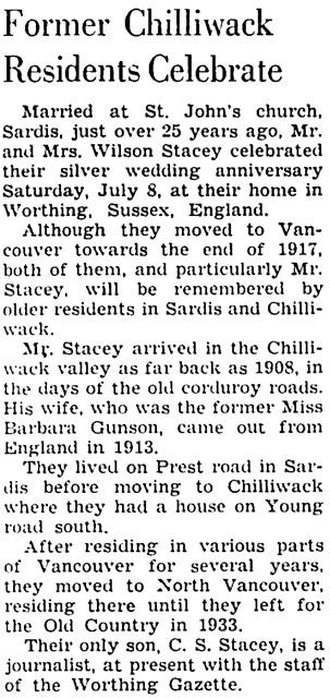The Chilliwack Progress, July 26, 1939, page 2, column 5.